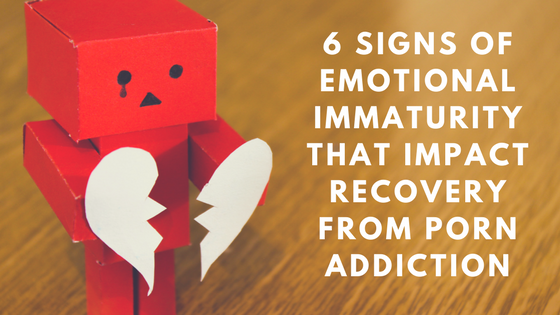 Signs of emotional immaturity